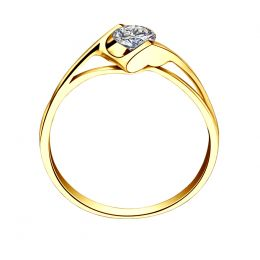 Solitaire or jaune - Diamant 0.20 carat - Victor Hugo, A Jeanne