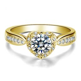 Solitaire Or jaune 18 carats  - Diamants