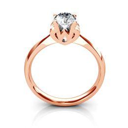 Bague prénom - Lettre W - Diamant, or rose
