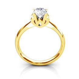 Bague prénom - Lettre W - Diamant, Or jaune