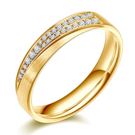 Alliance Femme Sillage amoureux. Or jaune, diamants