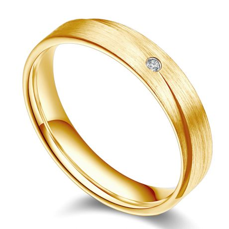Alliance Homme. Sillage amoureux. Or jaune et diamant