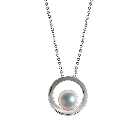 Pendentif perle Akoya - Himiko - Perle du Japon, Or blanc