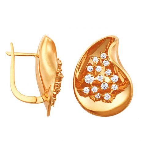 Dormeuses de joaillerie en or jaune - Diamants 0.77ct