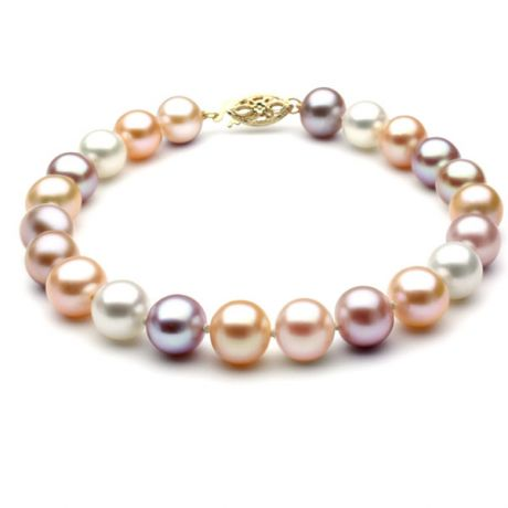 bracelets en perles de culture or 18 carats et diamant gemperles. Black Bedroom Furniture Sets. Home Design Ideas