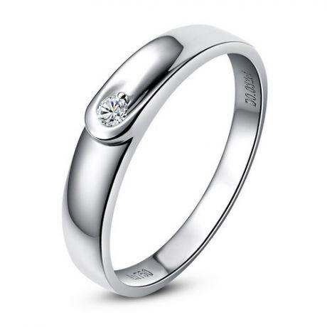 Alliance diamant et platine - Anneau Homme