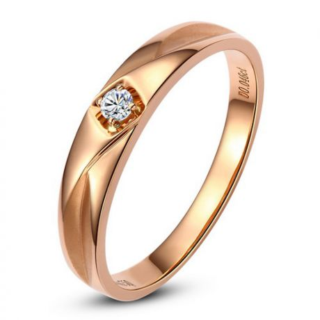 Alliance diamant or rose - Alliance pour Elle