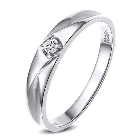 Alliance diamant or blanc - Alliance pour Lui