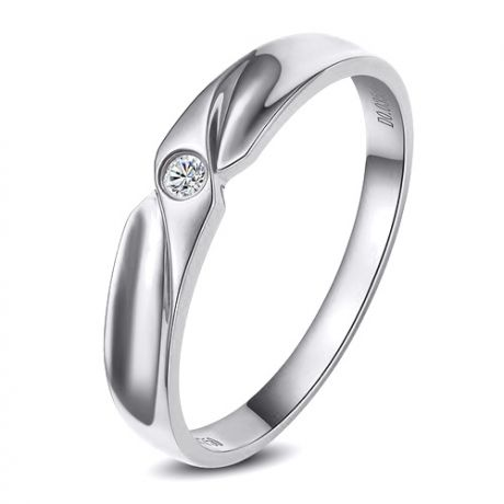 Alliance originale or blanc - Alliance Homme - Diamant