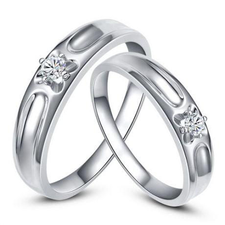 Alliances fleurs d'or blanc et diamants - Alliances Duo