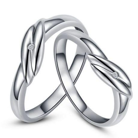 Bijoux alliances mariage - Alliances couple - Or blanc - Diamant