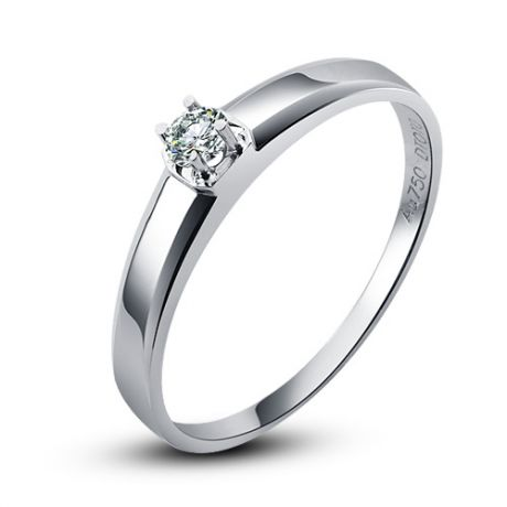 Alliance mariage originale - Alliance Femme - Or blanc - Diamant