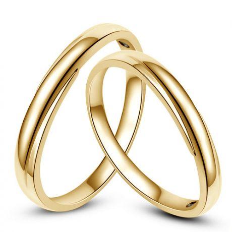 Alliances bijoux mariage - Alliances duo - Or jaune 18cts - Diamants