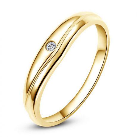 Modèle alliance mariage - Alliance classique Homme - Or jaune, diamant