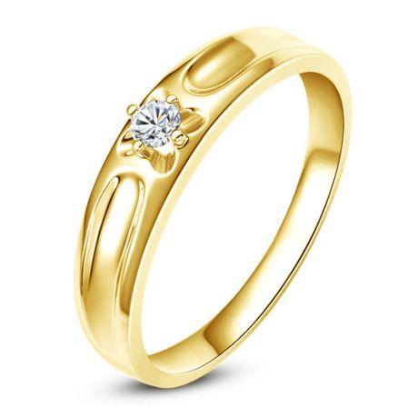 Alliance fleur d'or jaune et diamant - Alliance Femme