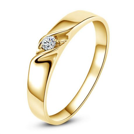 Alliance mariage en or - Alliance Femme - Or jaune 18 carats - Diamant
