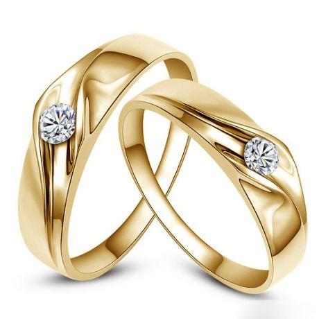 Alliances de fiançaille - Alliances Duo d'or jaune - Diamants