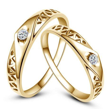 Alliances contemporaines -  Alliances Duo d'or jaune - Diamants