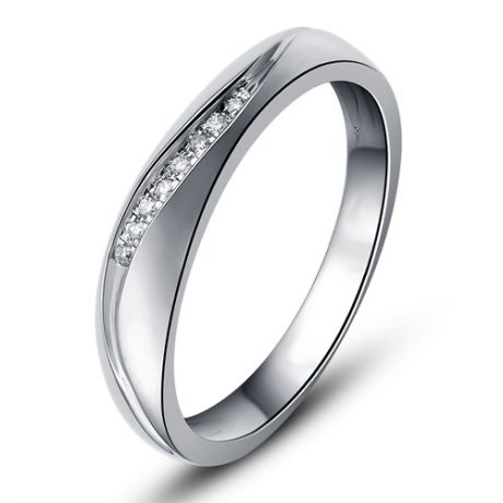 Alliance or mariage - Alliance diamants - Or blanc, Femme