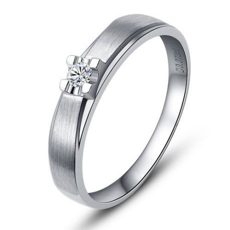 Alliance solitaire - Alliance Homme - Platine - Diamant