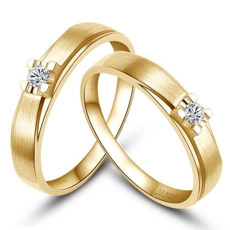 Alliances solitaires or - Alliances Duo - Or jaune - Diamants