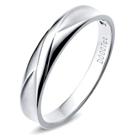 Alliance Homme. Or blanc. Diamant 0.007ct