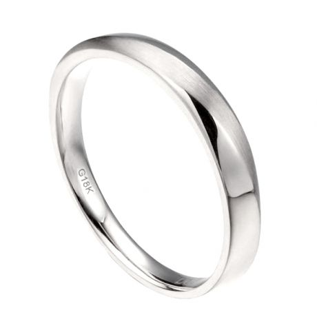 Alliance moderne Homme en Or blanc et Diamant