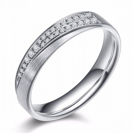 Alliance sillage amoureux femme. Or blanc, diamants