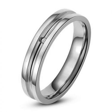 Bague alliance Homme - Anneau diamant or blanc
