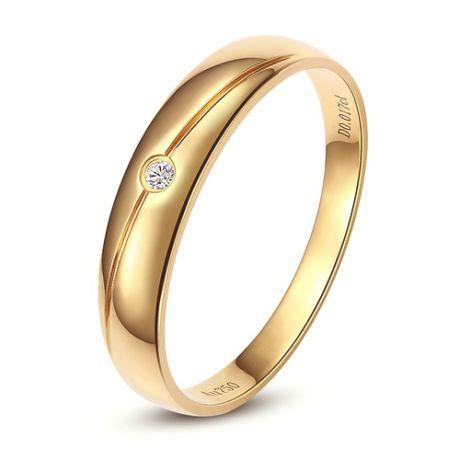 Alliance Femme. Or jaune. Diamant 0.015ct