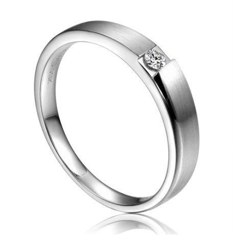 Alliance de fiançaille 2012 - Alliance pour Femme - Or blanc, diamant