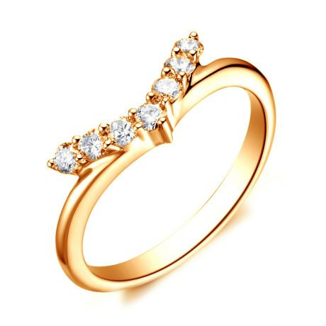 Bague Or jaune Diamants Freedom. Ailes de Colombe