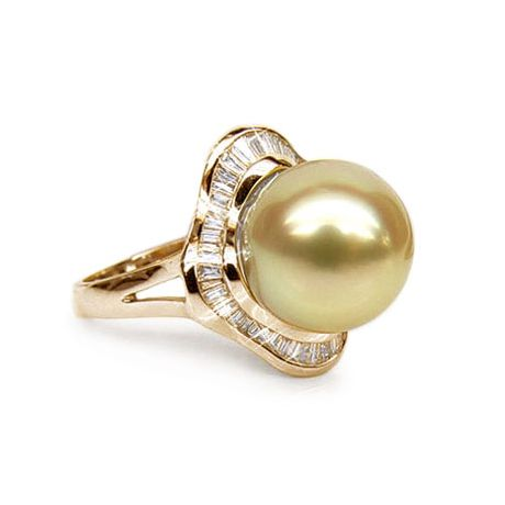 Bague Archipel Bonaparte - Perle d'Australie - Or jaune, diamants
