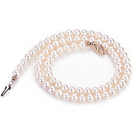 Collier perles de culture d'eau douce blanches - 5/5.5mm - AA+