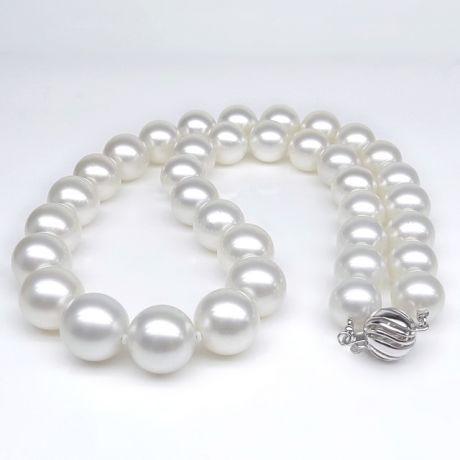 Collier de perles d'Australie blanches - Perle mers du sud 10/12mm