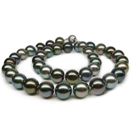 Collier perles de Tahiti multi couleurs - Perle polynésienne