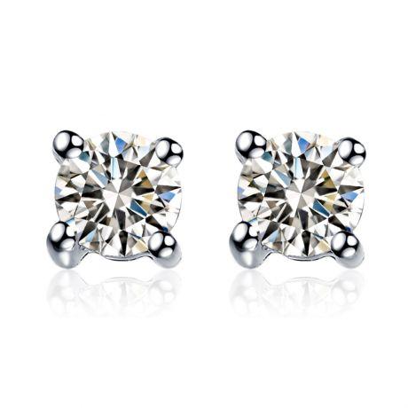 Puces diamants 0.20ct. Or blanc - Carat personnalisable