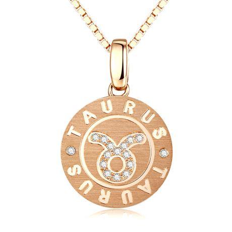 Pendentif Taurus Or jaune. Signe du taureau. Zodiaque