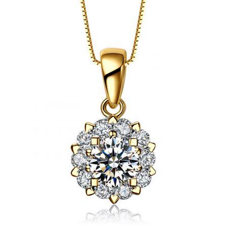 Pendentif Coeur Caillouté Or jaune et Diamants 0.33ct