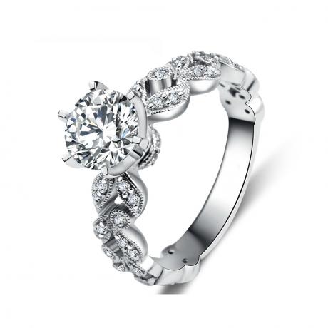 Bague Arthur Rimbaud - Sensation - Or blanc, diamants