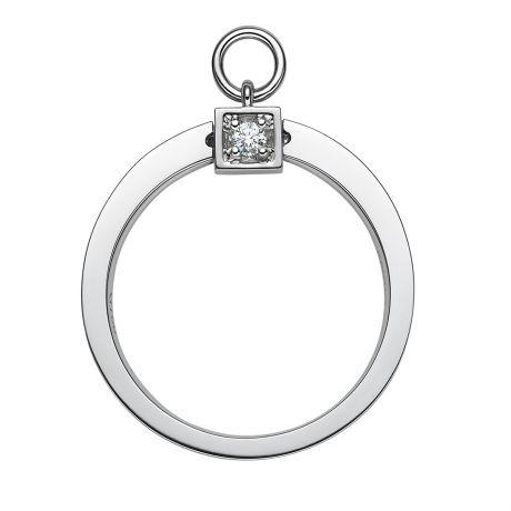 Solitaire pendentif - Bague de mariage en or blanc et diamants