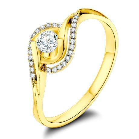 Bague or jaune diamants 0.20 carat - Chateaubriand, Clarisse