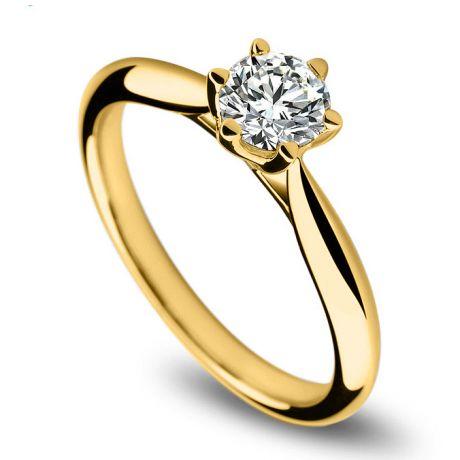Solitaire or jaune, diamant 0.25ct - L'Amour - Adélaïde DUFRÉNOY