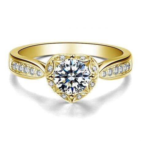 Solitaire Or jaune 18 carats  - Diamants