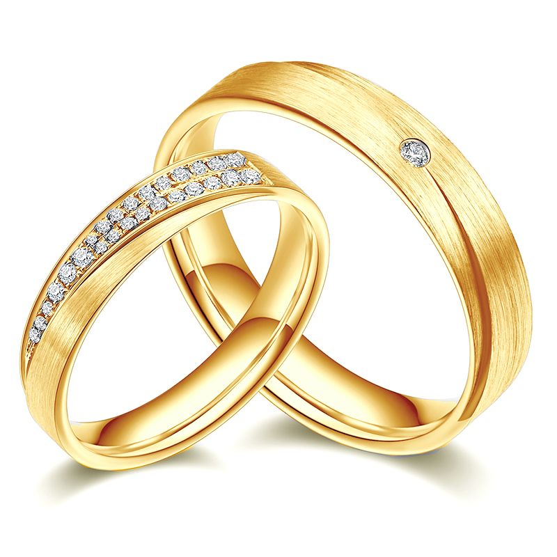 Alliances duo sillage amoureux en Or jaune et diamants