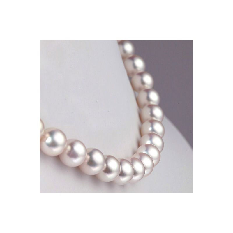 Collier grosse perle Akoya du Japon - Perles fines blanches - 8.5/9mm