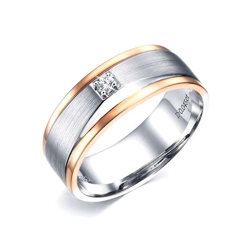 Bague Homme. 2 Ors. Diamants 0.045ct