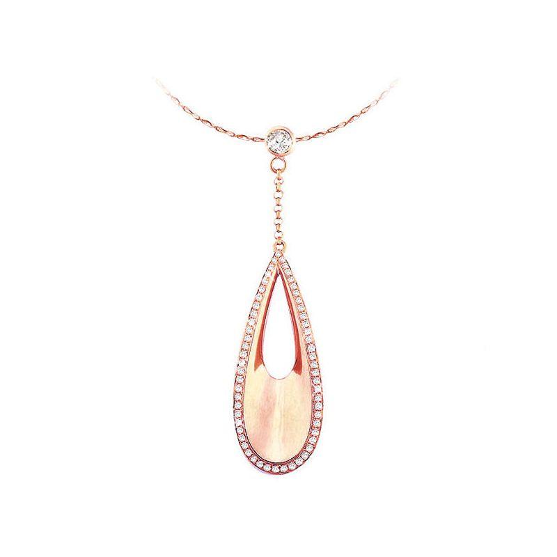 Pendentif diamants or rose 18 carats - Virtuosité de l'élément Eau
