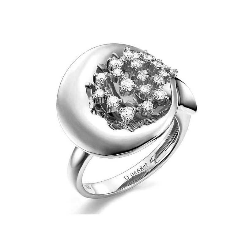 Création de bague - Joaillerie bague or blanc - 19 Diamants 0.468ct