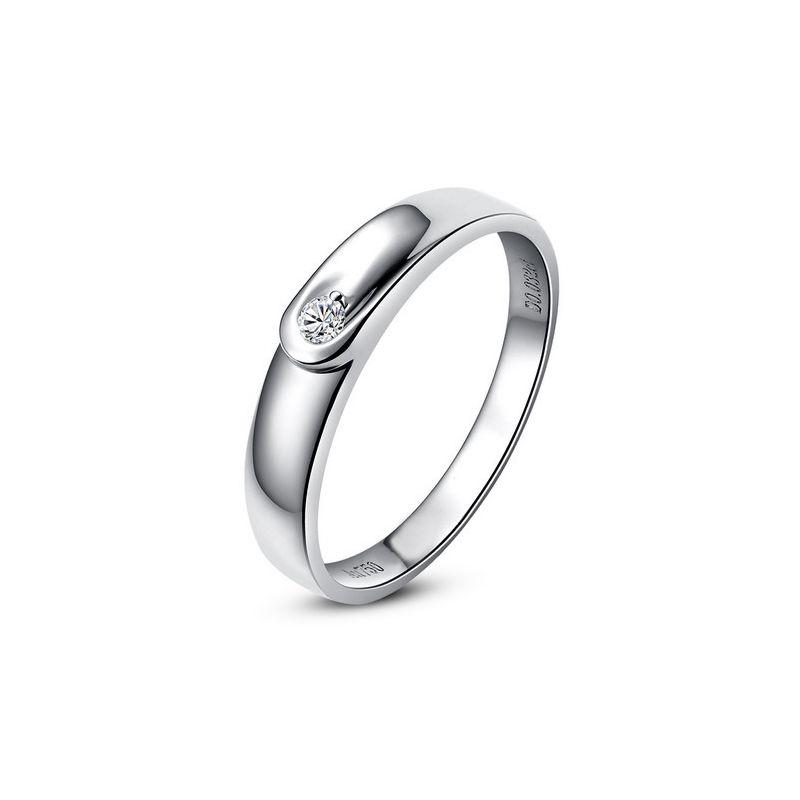 Alliance diamant et or blanc - Anneau Femme